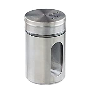 Stainless Steel-Over-Glass Spice Jar with 3-Size Shaker Top - Spices, Herbs, Seasonings by StarCraft