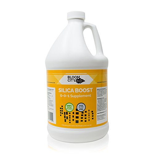 Liquid Silica Boost Fertilizer and Supplement by Bloom City, Gallon (128 oz) Concentrated Makes 750 Gallons