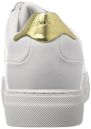 Trussardi Jeans 79s60753, Sneaker a Collo Basso Donna Multicolore (White/L.gold)