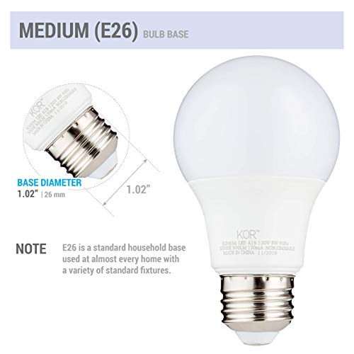 (Pack of 6) 9W LED A19 Light Bulb - Equivalent to 60W - Non Dimmable - 5000K Daylight Glow - 800 Lumens - E26 Base - UL Listed
