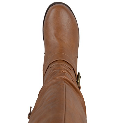 Brinley Co Womens Sunny-wc Riding Boot Tan