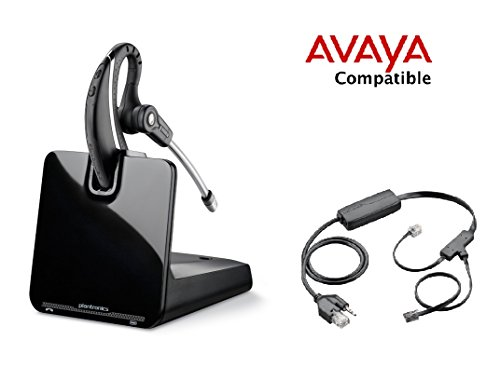 Avaya Compatible Plantronics CS530 Wireless Headset Bundle with Electronic Remote Answer/End EHS for Avaya 2420 4610 4610SW 4620 4620SW 4621 4621SW 4622 4622SW 4625 4625SW 4630SW 5420 5610 5620 5621