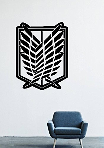 Titan Wing - Wall Decals Decor Viny Attack on Titan Japanese the Wings of Freedom Chosa Heidan Emblem logo Army Intelligence LM0343