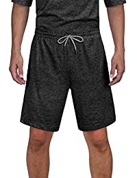 DISHANG Men's Short Sleeves and Shorts Pajamas Set Soft Lightweight and Stretch Lounge Sport Sleepwear