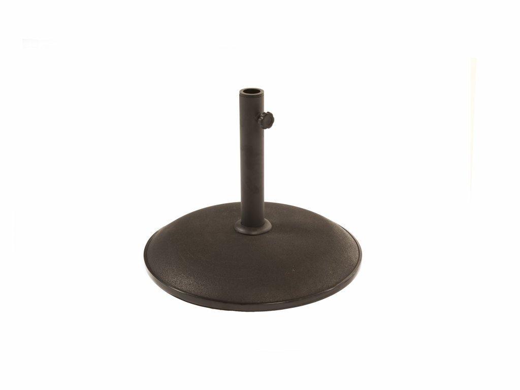 Black 15kg Concrete Parasol Base - Black Concrete Anchor For Parasols and Garden Umbrellas BrackenStyle