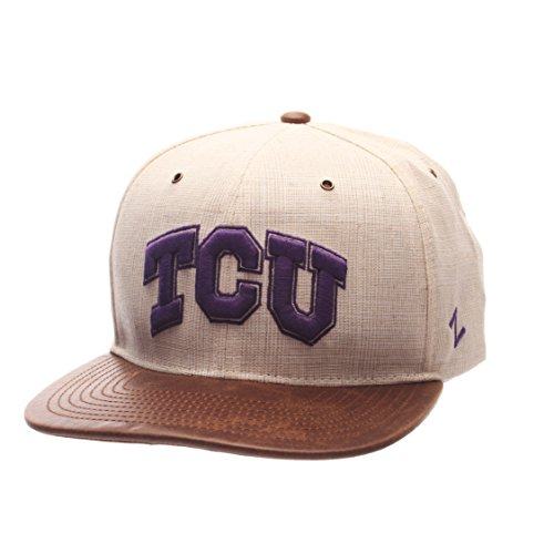 NCAA TCU Horned Frogs Adult Men's Havana Snapback Hat, Adjustable Size, Ivory/Dark ()