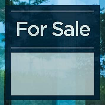 36x24 Sale CGSignLab Classic Navy Window Cling