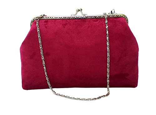 Clutches AITING in Gorgeous Red Handbags Cocktail Evening Velvet zIwxIq8