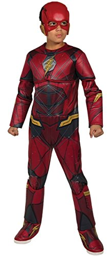 Justice League Child's Deluxe Flash Costume, Small]()
