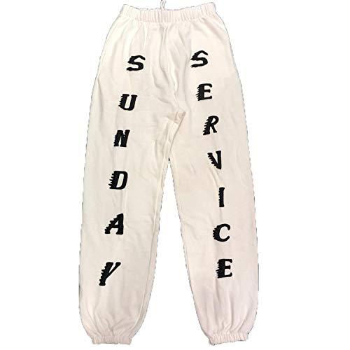 19SS Kanye West Sweatpants Sunday Service CPFM.XYZ Brain Dead Gustavo 1:1 Jogger White L