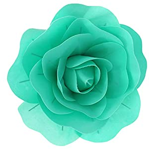 Luccaful Large Foam Fake Flowers Artificial Roses Set of European Style Wedding Flower Wall Wedding Window Background Layout,Light Green,30 cm 40