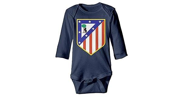 Artspower Atletico Madrid Logo Long Sleeve Baby Bodysuits