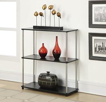 Convenience Concepts Designs2Go 3-Tier Bookshelf, Black