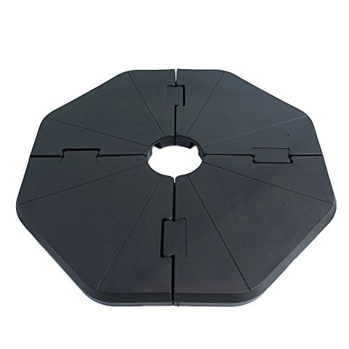 Le Papillon Patented Sand-Filled Plastic Base Weight Plates for Cantilever Offset Umbrella, Pack of ()