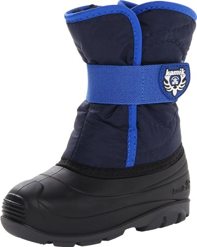Kamik Footwear Snowbug3 Insulated Boot (Toddler),Navy,6 M US Toddler (Boots Footwear)