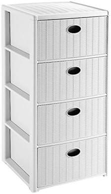 Stefanplast Elegance Drawers Unit, White, 40 x 40 x 80 cm