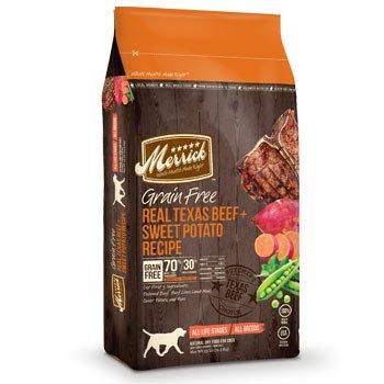Merrick Grain Free Real Texas Beef/Sweet Potato Pet Food, 25-Pound, My Pet Supplies