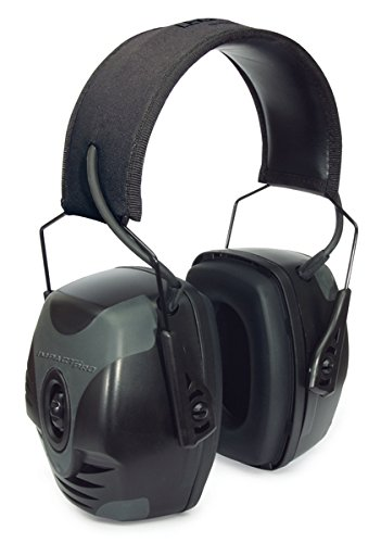 (Howard Leight by Honeywell Impact Pro Sound Amplification Electronic Shooting Earmuff, Black & Grey (R-01902))