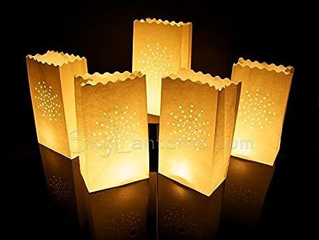 Bolsas decorativas para velas, Linternas de papel bolsas - 50 unidades, diseño de sol