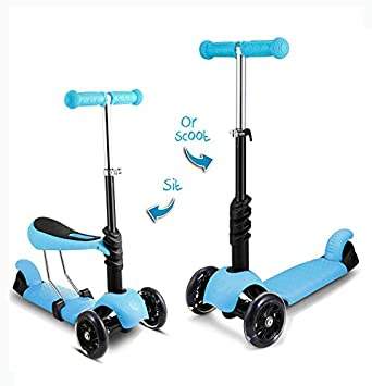 Amazon.com: Patinete 2 en 1 con asiento extraíble, ideal ...