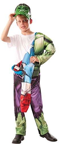 Marvel Avengers 2-In-1 Muscle Chest Hulk/Captain America Deluxe Costume, (Girl Avengers Costumes)