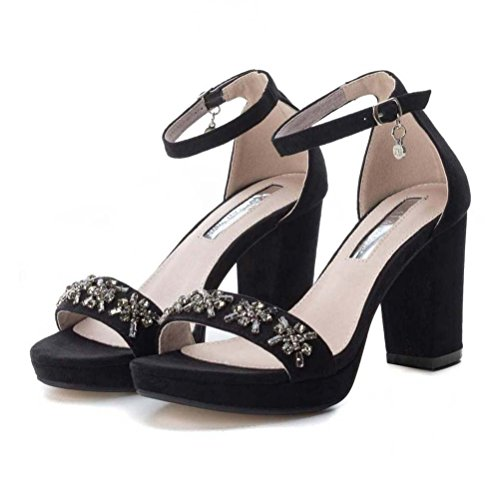Summer 30687 Donna Xti Shoes Scarpe Primavera Sandali Estate 2018 Woman Nero OOqfIv