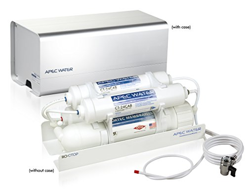APEC Portable Countertop Reverse Osmosis Water Filter System, Installation-Free, fits most STANDARD FAUCET (RO-CTOP) (Best Countertop Reverse Osmosis Water Filter)