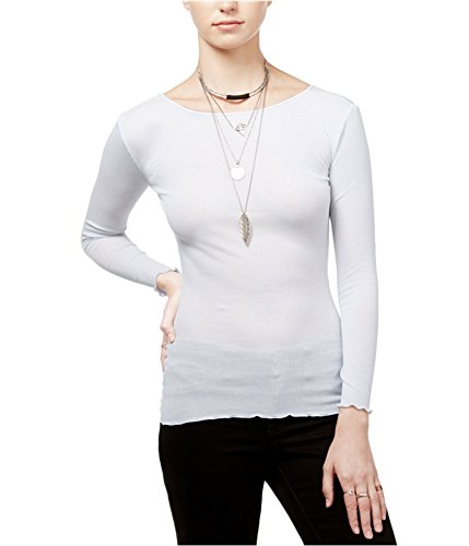 Free People Womens Modal Blend Ribbed Pullover Top White M from Free People