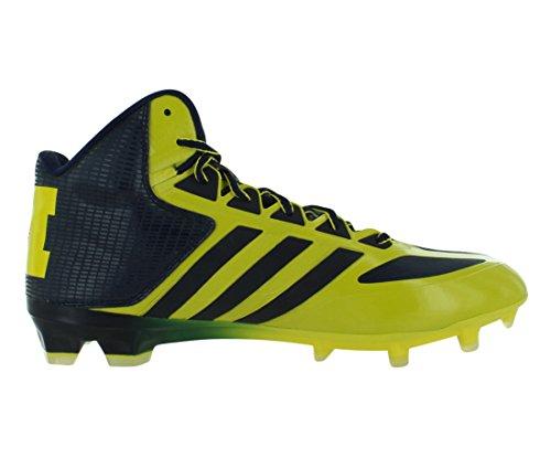 Adidas Smu Crazyquick Mitten Ncaa Football Mens Skor Storlek Gul / Blå