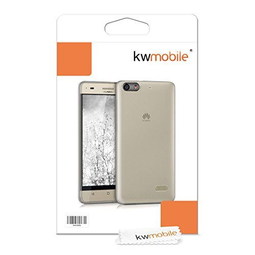 kwmobile Flexible super-slim case for Huawei G Play Mini in black transparent