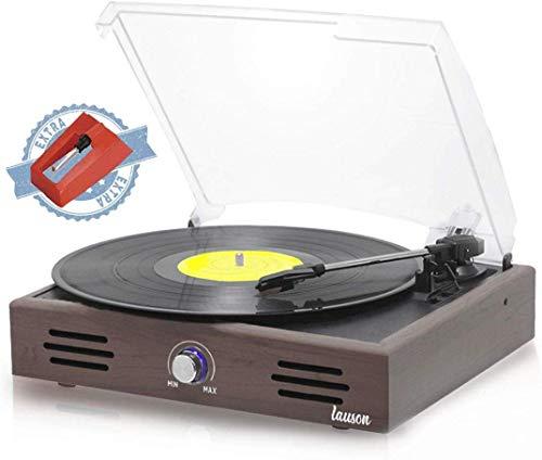 Tocadisco Lauson Función de Grabación Encoding PC-Link   Tocadiscos de Vinilo Vintage con Altavoces Incorporados   Reproductor de Vinilo con 2 ...