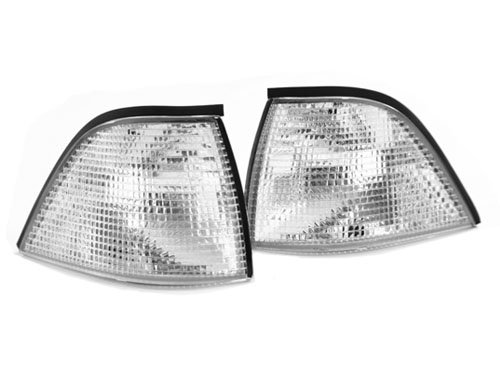 92-99 BMW E36 3-Series 2DR 2D Coupe/Convertible Euro Corner Lights - Clear (1992 1993 1994 1995 1996 1997 1998 1999)