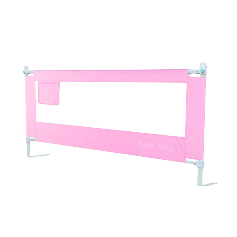Rail Guards JY Vertical Lift Bed Rails for Toddlers, Extra Long Bed for Kids Twin, Double, Full Size Queen Protective Fence 71-83cm (Color : Pink, Size : 200cm)
