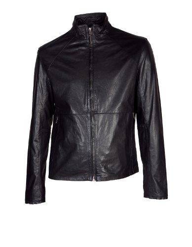 BRUUNS BAZAAR Lederjacke Leather Jacket black 999black, S