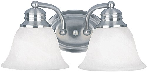 Maxim Lighting 2687 Malaga Bath Vanity Light Fixture, Satin Nickel Finish, 13.25-Inch by 6-Inch (Fixture Malaga Bath)