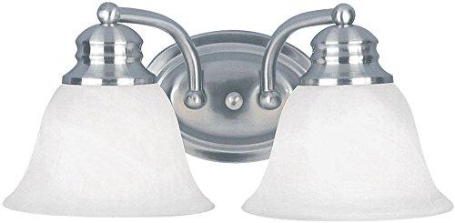 Maxim Lighting 2687 Malaga Bath Vanity Light Fixture, Satin Nickel Finish, 13.25-Inch by 6-Inch (Fixture Bath Malaga)