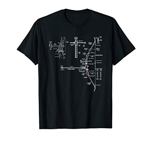 Cool Archery Tees - Bow Design Blueprint T-Shirt