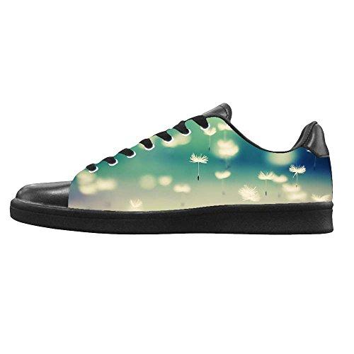 Chaussures De Toile De Mens De Pissenlit Faites Sur Commande Les Lacets Dans Le Haut Au-dessus Des Chaussures De Baskets Chaussures De Toile.