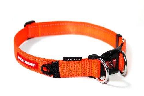 EzyDog Double Up Collar, Medium, Blaze Orange