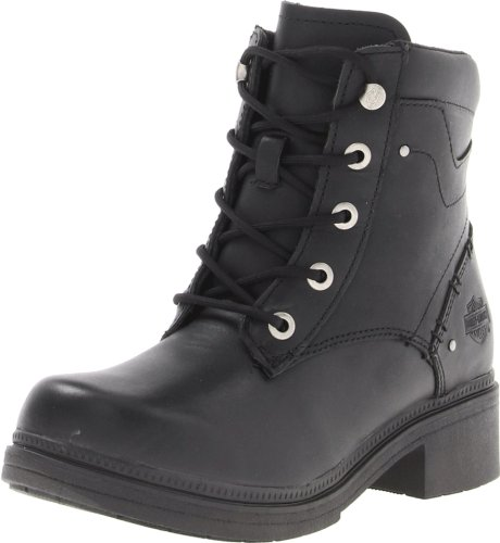Leather Ankle Boots Side Zip Lace Up synthetic sole cushione