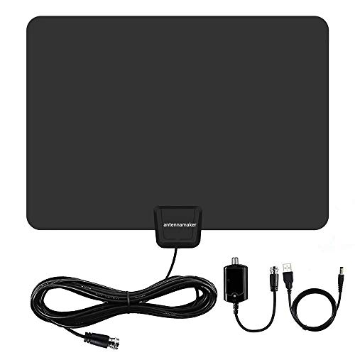 [2019 Newest]Amplified HD Digital TV Antenna up to 95 Miles Range - Indoor HDTV antenna with Powerful Signal Booster,Long Coax Cable,Support 4K 1080P UHF VHF Freeview HDTV Channels for All Indoor TVs