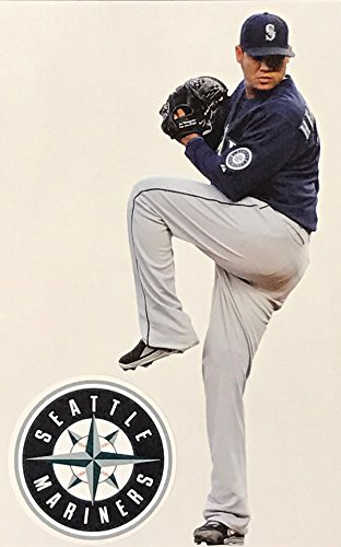 fec45588 FATHEAD Felix Hernandez Mini Seattle Mariners Official MLB Vinyl Wall  Graphic 7
