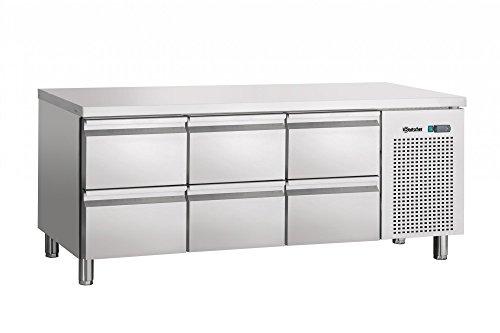 Table réfrigérée ventilée, 6 tiroirs