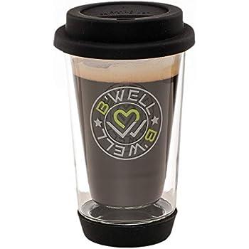 Amazon Com B Well 12 Oz Glass Travel Mug Reusable