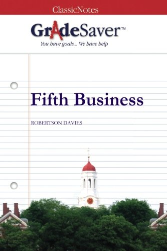 Fifth Business Essays  Gradesaver Fifth Business Robertson Davies