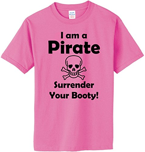 I am a Pirate, Surrender Your Booty T-Shirt~Azalea~Adult-XL - Adult Pirate Booty