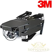SopiGuard 3M Satin Gunmetal Precision Edge-to-Edge Coverage Vinyl Skin Controller Battery Wrap for DJI Mavic Pro