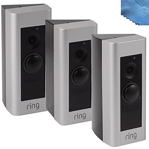 Off Doorbells (EEEKit 3-pack Adjustable Angle Mount w/ Clean Cloth for Ring Doorbell Pro, 20 30 40 Degree Angle Adjustment Doorbell Corner Mounting Plate Bracket)