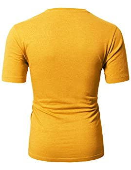 H2h Mens Basic Fashion Crew-neck T-sihrt Mustard Us Lasia Xl (Cmtts0198) 3
