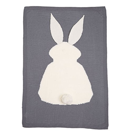 Bunny Kit With Sound (MIOIM Baby Boys Girls Autumn Air Conditioning Rabbit Bunny Knitted Sleep Blanket)